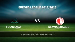 Forecast for Astana - Slavia Prague, Europa League