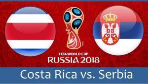 Serbia contra tocino de Costa Rica