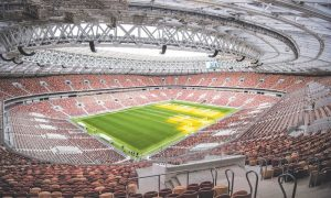 Why England likes to play at Luzhniki stadium?