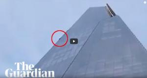 Мъж се изкачи по небостъргач без осигуровка